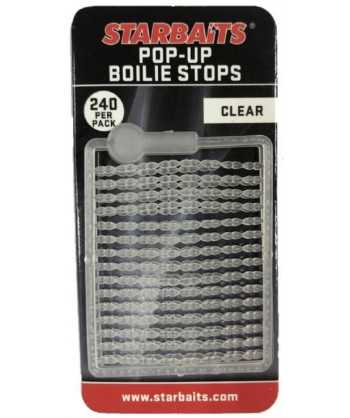 Bait Stopper Pop UP Fluo průhledná 240ks