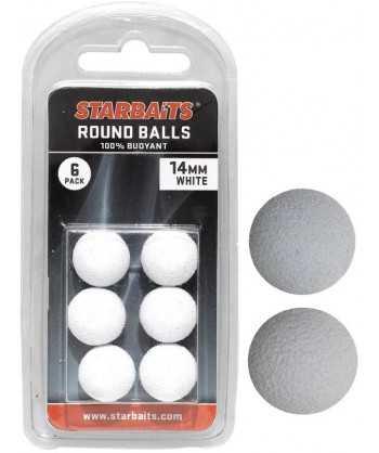 Round Balls 14mm bílá (plovoucí kulička) 6ks