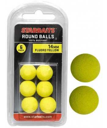 Round Balls 14mm žlutá (plovoucí kulička) 6ks