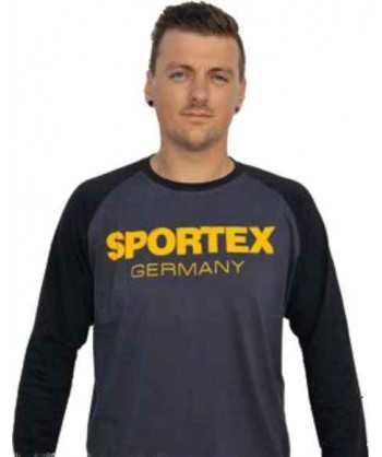 Sportex Tričko s dlouhým rukávem a logem - černé vel.L