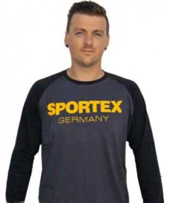 Sportex Tričko s dlouhým rukávem a logem - černé vel.XXL