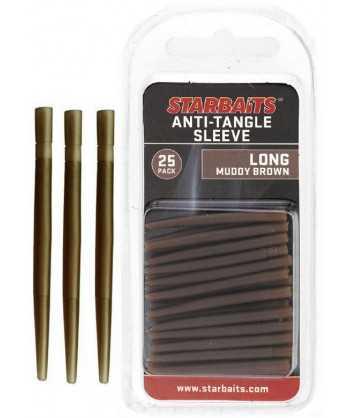 Anti Tangle Sleeve Long hnědá 4cm (převleky) 25ks