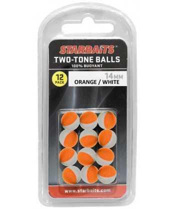 Two Tones Balls 10mm oranžová/bílá (plovoucí kulička) 12ks