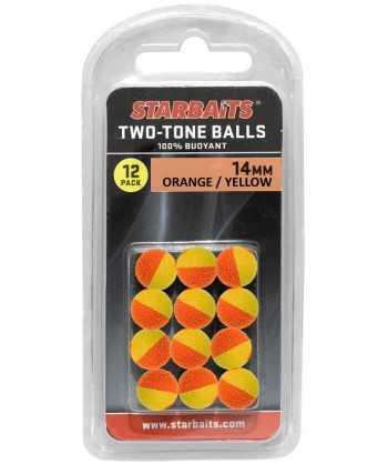 Two Tones Balls 10mm oranžová/žlutá (plovoucí kulička) 12ks