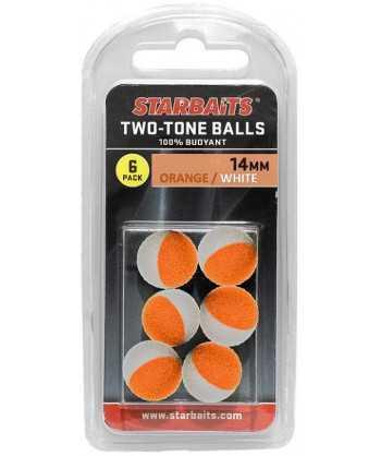 Two Tones Balls 14mm oranžová/bílá (plovoucí kulička) 6ks